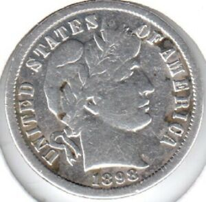 1898 O FINE BARBER DIME DISCOUNTED FOR SMALL SPOTS AND CLEANING