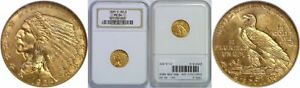 1925 D $2.50 GOLD COIN NGC MS 64