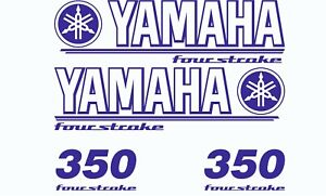 Yamaha 350 Four Stroke Die Cut Decals Outboard Engine Graphics Motor 350hp SLVR