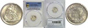 Click now to see the BUY IT NOW Price! 1837 SEATED LIBERTY HALF DIME PCGS MS 66 NO STARS LARGE DATE
