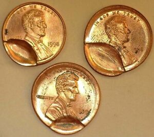 3 PCS. LINC. CENTS W/ INDENTED STRIKES