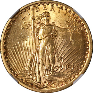 1912 SAINT GAUDENS GOLD $20 NGC MS61 GREAT EYE APPEAL NICE STRIKE