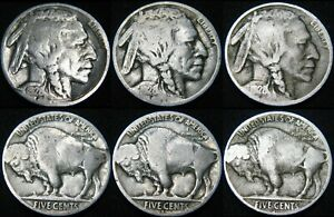 THREE COINS 1928 P 1928 D 1928 S BUFFALO NICKELS COMBINED S&H AVAILABLE GM28MZ
