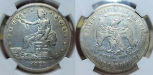 1878 CC SILVER TRADE DOLLAR $1 NGC AU DETAILS CLEANED  97K MINTAGE