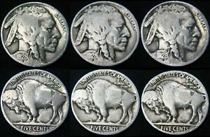 THREE COINS 1928 P 1928 D 1928 S BUFFALO NICKELS COMBINED S&H AVAILABLE GM47IP