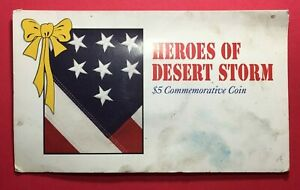 1991 HEROES OF DESERT STORM $5 COMMEMORATIVE COIN   FREE SHIP