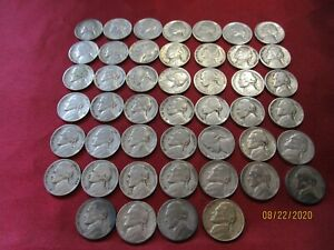 46 COLLECTIBLE COINS  JEFFERSON NICKELS 1939 1946