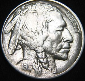 BOLD 1913 P TYPE 2 BUFFALO NICKEL PLAIN VARIETY II COMBINED S&H AVAILABLE GK55II