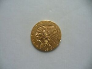 1915  P $2 5 QUARTER EAGLE INDIAN HEAD  US GOLD COIN