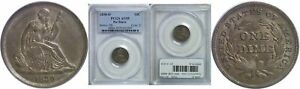 1838 O SEATED LIBERTY DIME PCGS AU 55 NO STARS