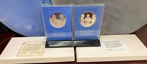 2 PCS. STERLING SILVER FM ISRAELLI MEDALS