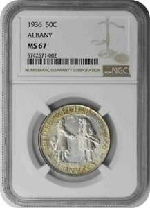 Click now to see the BUY IT NOW Price! ALBANY COMMEMORATIVE SILVER HALF DOLLAR 1936 MS67 NGC