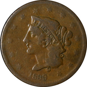 1839 LARGE CENT   BOOBY HEAD GREAT DEALS FROM THE EXECUTIVE COIN COMPANY