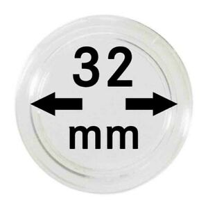 LINDNER 2250032P CAPSULES 32 MM FOR TRAYS PACK 10