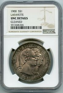 1900 S $1 LAFAYETTE SILVER DOLLAR NGC UNC DETIALS   CLEANED  GARY 12/23/20  GP
