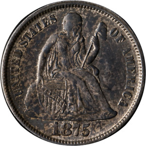 1875 P SEATED LIBERTY DIME GREAT DEALS FROM THE EXECUTIVE COIN COMPANY
