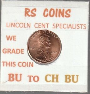 2000  LINCOLN  CENT     UNCIRCULATED     NICE  HAND PICKED CENT  FROM RS COINS