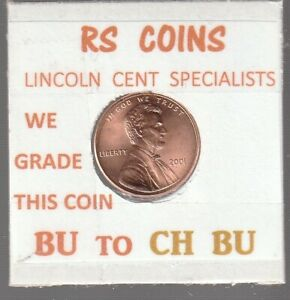 2001  LINCOLN  CENT     UNCIRCULATED     NICE  HAND PICKED CENT  FROM RS COINS