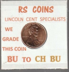 2002  LINCOLN  CENT     UNCIRCULATED     NICE  HAND PICKED CENT  FROM RS COINS