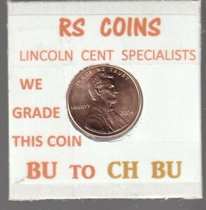 2004  LINCOLN  CENT     UNCIRCULATED     NICE  HAND PICKED CENT  FROM RS COINS