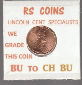 2000D  LINCOLN  CENT     UNCIRCULATED     NICE  HAND PICKED CENT  FROM RS COINS