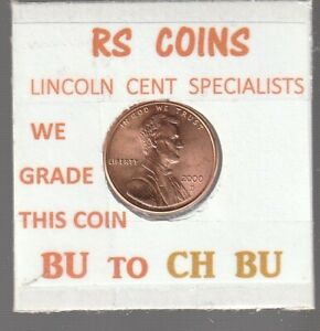 2000D   2001D  LINCOLN CENTS  UNCIRCULATED  NICE HAND PICKED CENTS FROM RS COINS