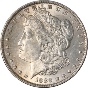 1889 P MORGAN SILVER DOLLAR   ERROR   ROTATED REVERSE GREAT DEALS FROM THE EXECU