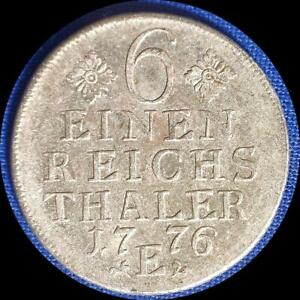 Click now to see the BUY IT NOW Price! GERMAN STATES PRUSSIA 1776 E 1/6 THALER   OLD SILVER WORLD COIN