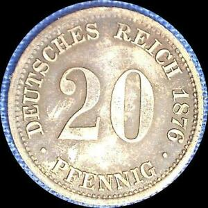 Click now to see the BUY IT NOW Price! GERMANY 1876 G 20 PFENNIG   OLD SILVER WORLD COIN