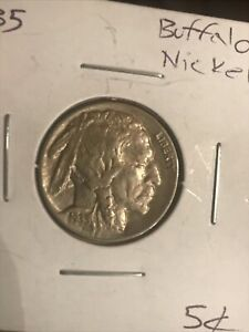 1935 P BUFFALO NICKEL ABOUT UNCIRCULATED 5