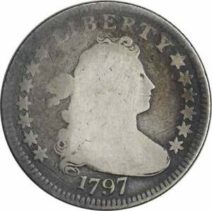 1797 BUST SILVER DIME AG UNCERTIFIED