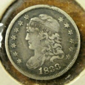 1833 CAPPED BUST HALF DIME 5C CENTS US COIN