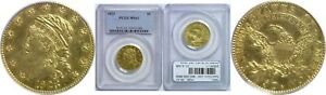1823 $5 GOLD COIN PCGS MS 61