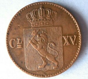 1867 NORWAY 1/2 SKILLING   AU   STRONG VALUE COIN   LOT F25