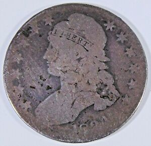 1834 US LIBERTY CAPPED BUST HALF DOLLAR 50 CENT COIN 670 U