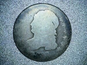 1827 P CAPPED BUST SILVER DIME   KEY DATE LOW MINTAGE 115