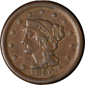 1850 LARGE CENT GREAT DEALS FROM THE EXECUTIVE COIN COMPANY