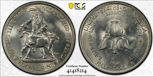 1938 NEW ROCHELLE COMMEMORATIVE HALF DOLLAR PCGS MS65    41418214