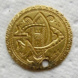 1864 TYPE 3 INDIAN PRINCESS  $1 GOLD EX   JEWELRY HOLED LOVE TOKEN  DATE