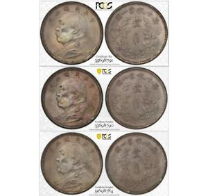 Click now to see the BUY IT NOW Price! 3X 1914 CHINA REPUBLIC 10 CENTS Y326 L&M66 PCGS MS66  TOP POP 3/3 0 HIGHER