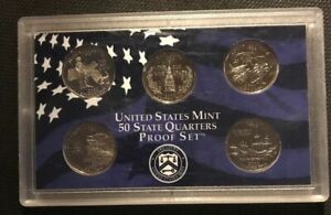 2000 S 5 COIN US CLAD QUARTER PROOF SET   COINS ONLY