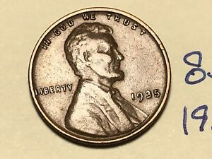 1935 1C BN LINCOLN CENT WHEAT PENNY 8314K