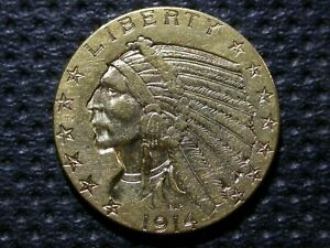 $5 GOLD INDIAN   1914