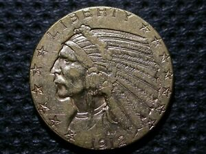 $5 GOLD INDIAN   1912