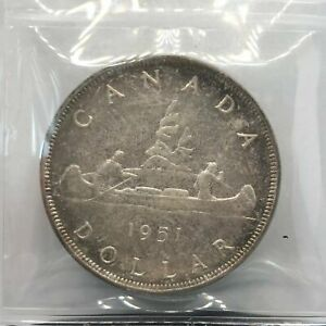 1951 CANADIAN SILVER $1 ICCS MS65