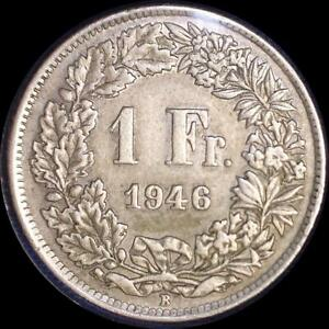 Click now to see the BUY IT NOW Price! SWITZERLAND 1946 1 FRANC OLD WORLD SILVER COIN HIGH GRADE LOW MINTAGE 624 000