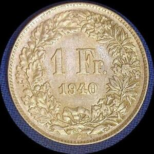 Click now to see the BUY IT NOW Price! SWITZERLAND 1940 1 FRANC OLD WORLD SILVER COIN HIGH GRADE