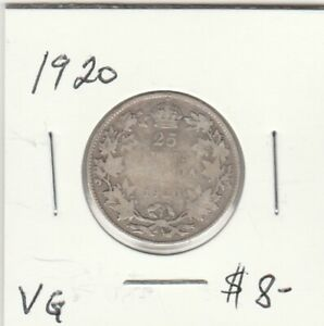 CANADA 1920 25 CENTS