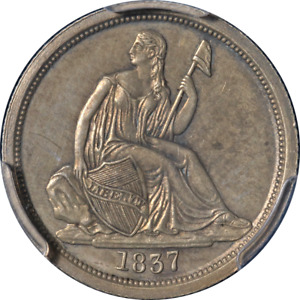 Click now to see the BUY IT NOW Price! 1837 SEATED LIBERTY DIME PROOF NO STARS PCGS PR GENUINE KEY DATE NICE EYE APPEAL