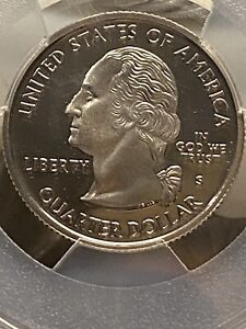 Click now to see the BUY IT NOW Price! 2002   S  SILVER WASHINGTON QUARTER   TENNESSEE   PCGS PR69DCAM   FLAG SERIES
